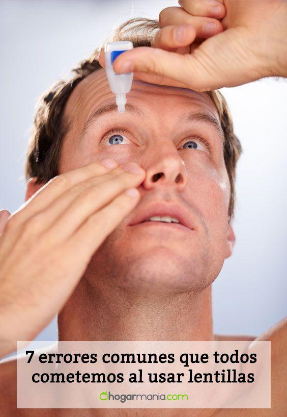 7 errores comunes que todos cometemos al usar lentillas