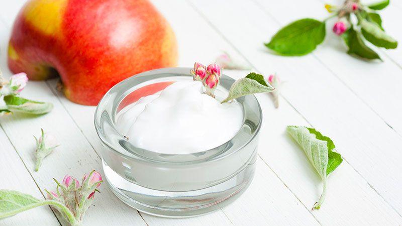 Mascarilla nutritiva de manzana y aceite