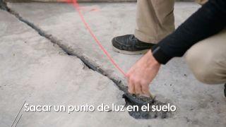 Cómo sacar un punto de luz en el suelo