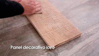 Letrero decorativo de madera