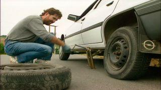 Cambiar rueda del coche