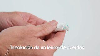 Cómo colocar un tensor de cuerdas