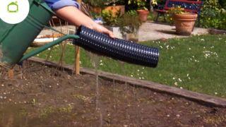 Instalar un drenaje en el jardín