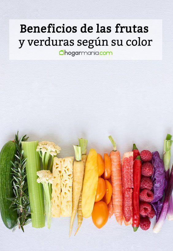 Beneficios de las frutas y verduras según su color.