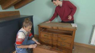 Cómo pintar y modernizar una cómoda vintage paso 1