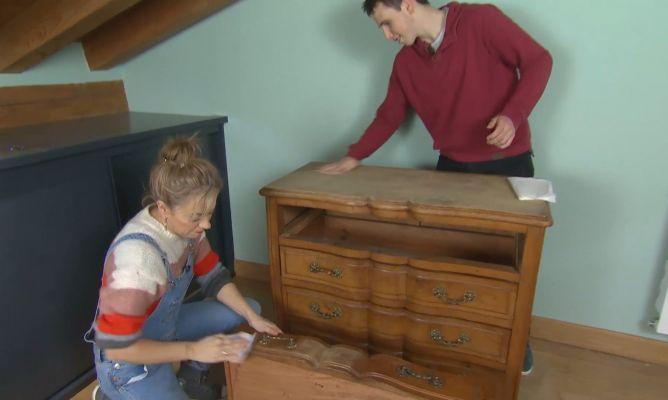 Antes Cómoda Vintage Para Habitación Juvenil