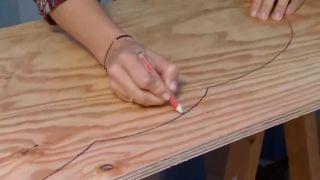 Crear baldas de madera con forma de nubes - paso 1