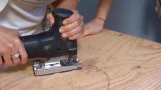 Crear baldas de madera con forma de nubes - paso 2