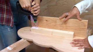 Crear baldas de madera con forma de nubes - paso 4