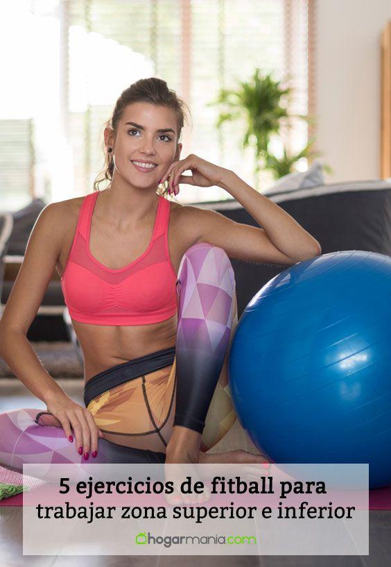 5 ejercicios de fitball para trabajar zona superior e inferior