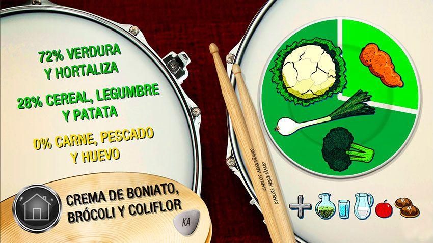 Plato del día: Crema de boniato, brócoli y coliflor