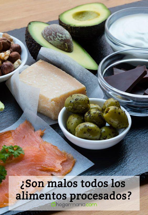 ¿Son malos todos los alimentos procesados?