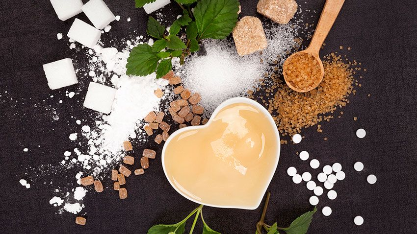 Sustitutos del azúcar: stevia o extracto de vainilla, entre otros.