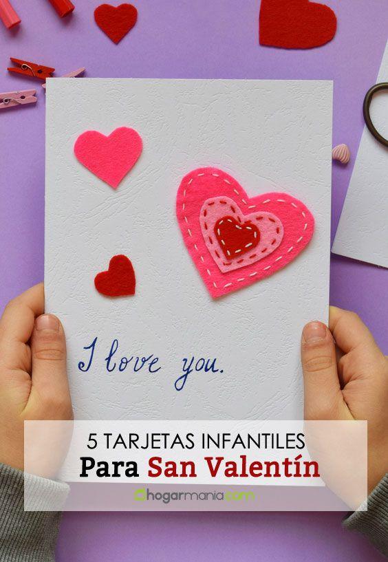 Tarjeta de San Valentín para niños