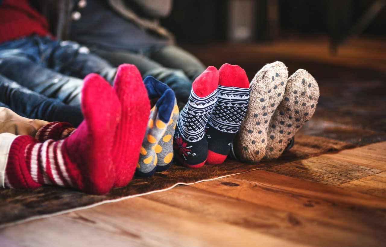 Silicona para que los calcetines no resbalen.
