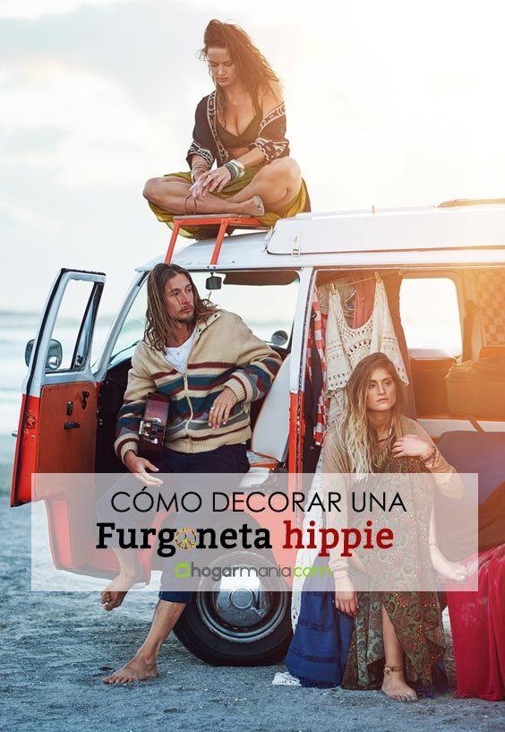 Cómo decorar una furgoneta hippie