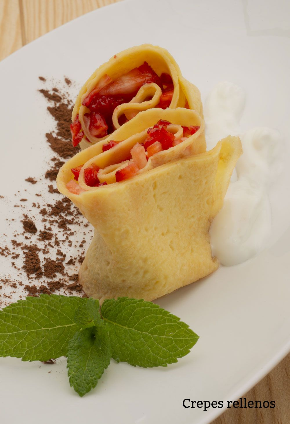 Crepes rellenos.