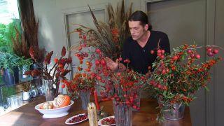 bayas de invierno para centros florales