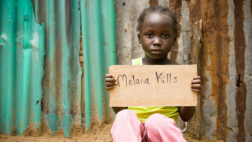 Los niños vulnerables a la malaria