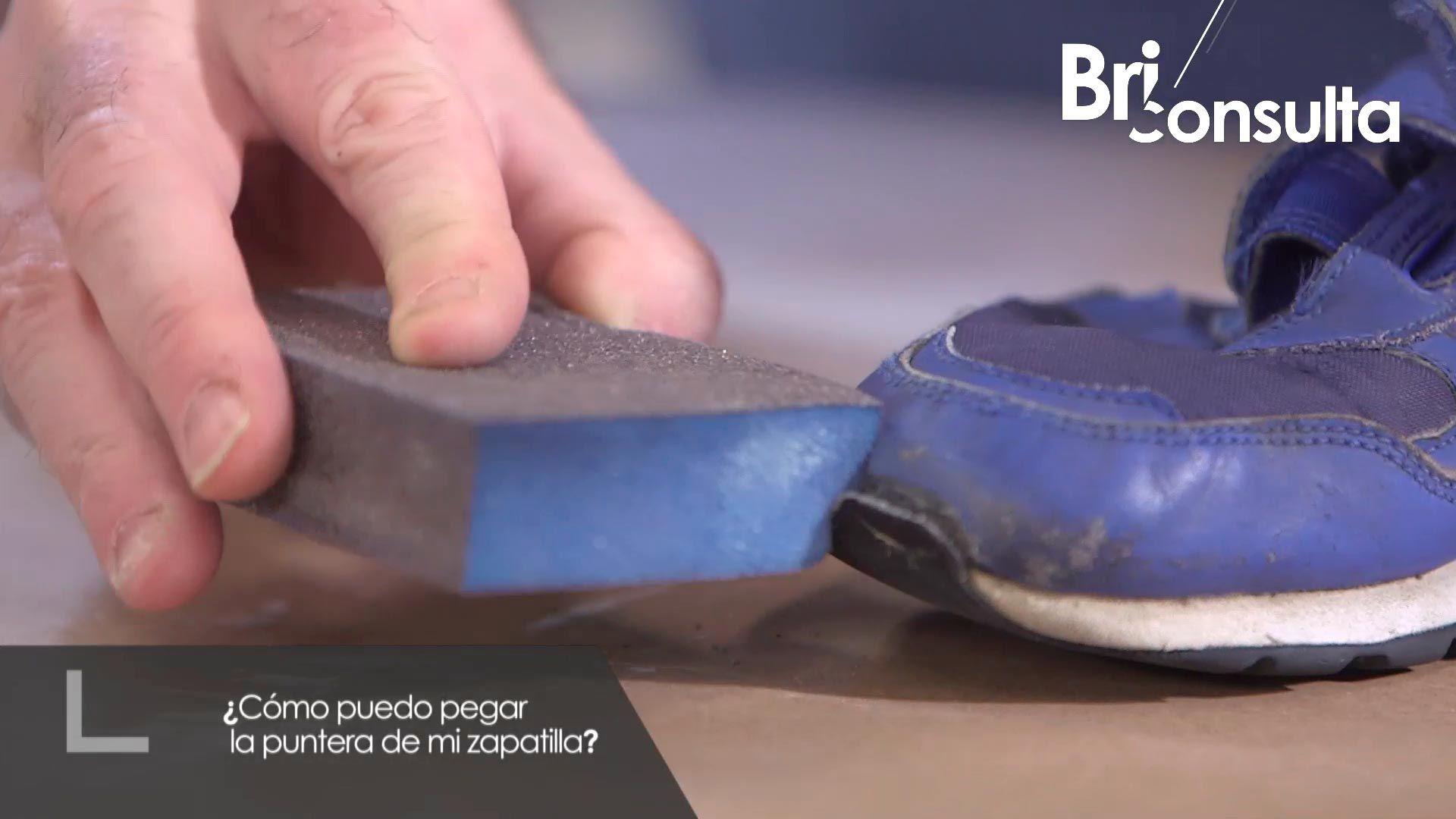 Cómo pegar la puntera de una zapatilla