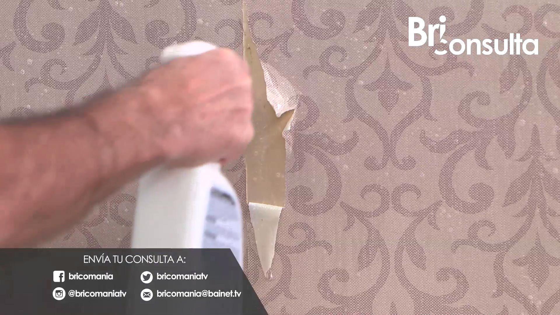 Cómo retirar papel pintado