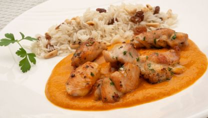 Receta de Conejo al curry con arroz