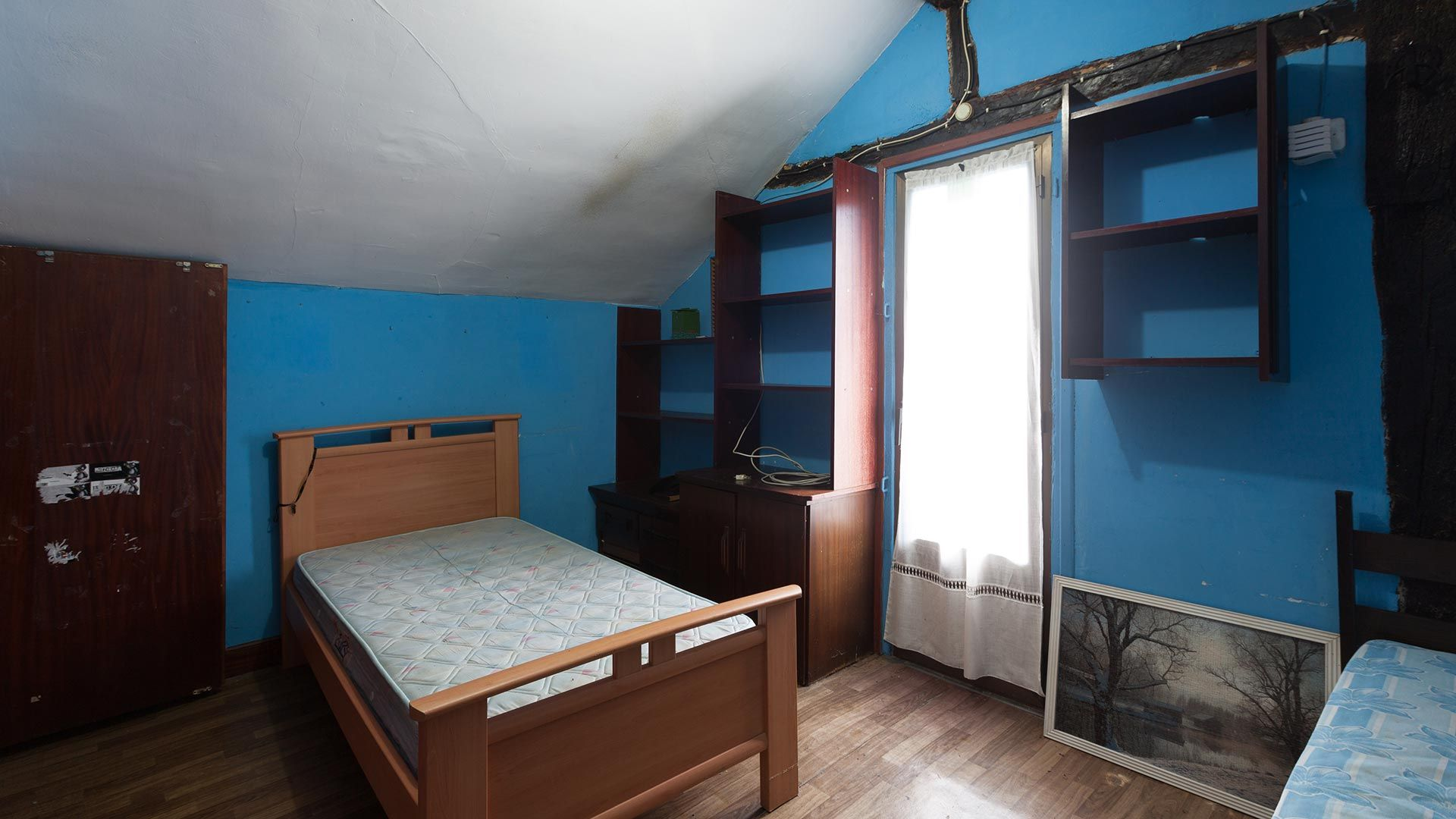 Dormitorio infantil doble antes
