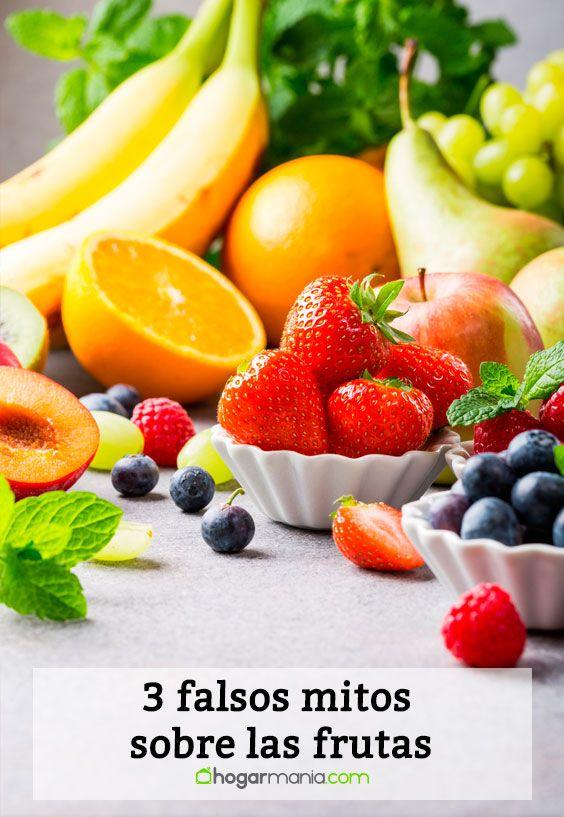3 falsos mitos sobre las frutas