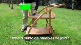 Mantenimiento de los muebles del jardín