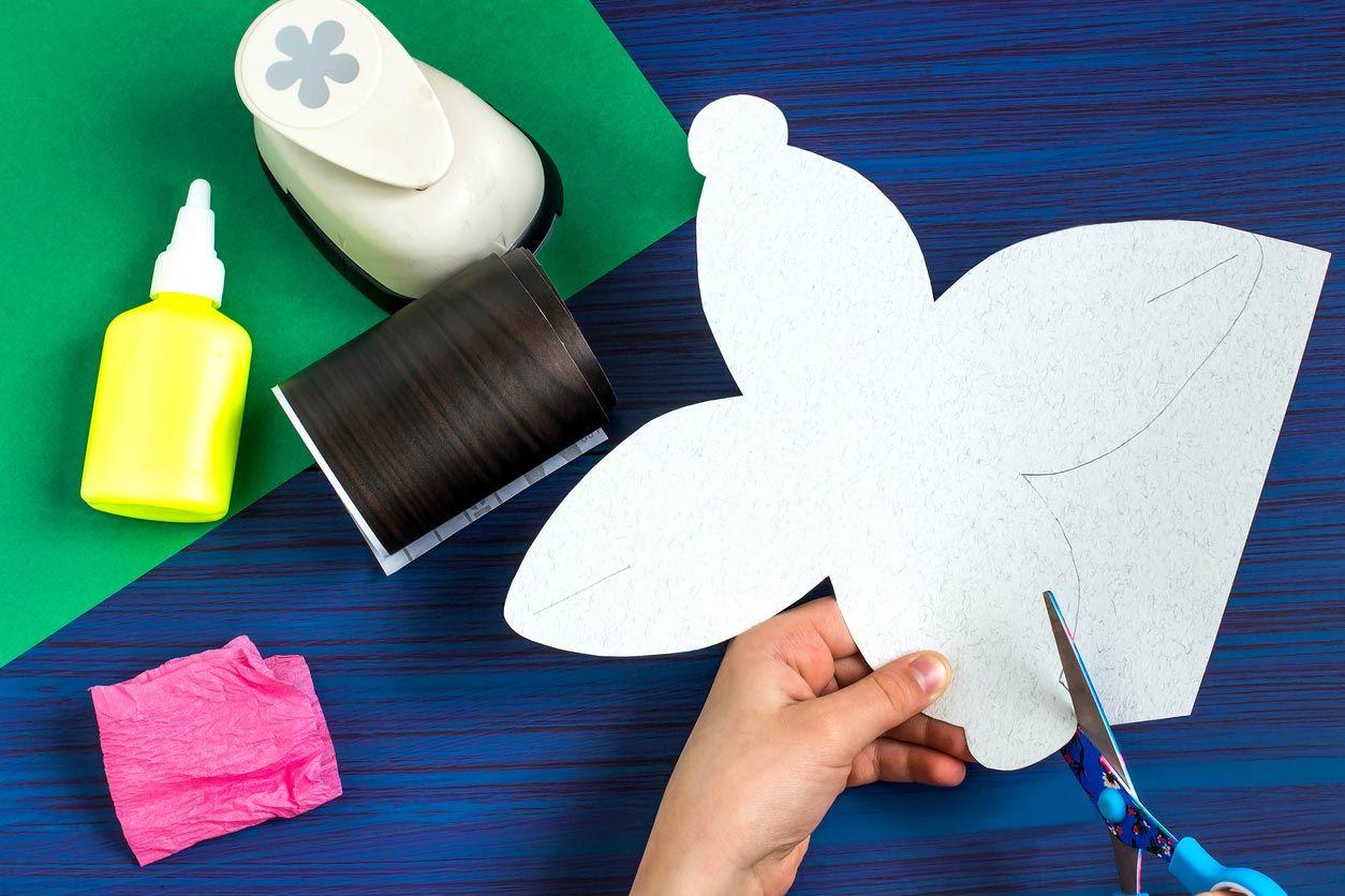 Caja de cartulina estilo japonés paso 1