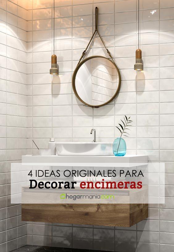 4 Ideas originales para decorar la encimera del baño