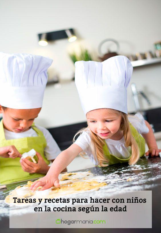 Tareas y recetas para hacer con niños en la cocina según la edad