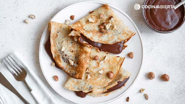 Crepes con chocolate