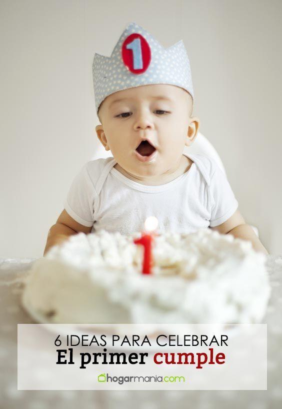 6 Ideas originales para celebrar el primer cumpleaños de tu bebé
