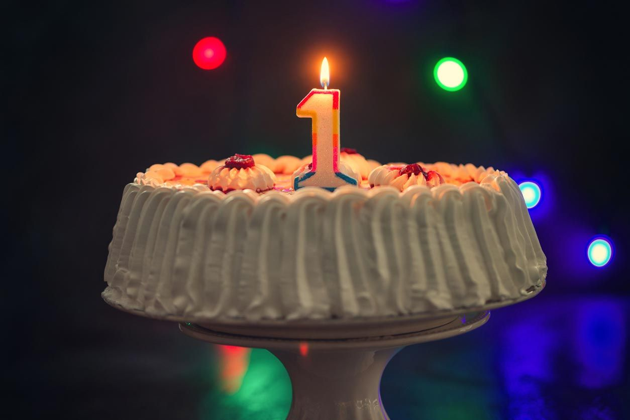 Vela para celebrar el primer cumpleaños de tu bebé.