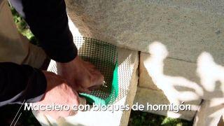 Cómo hacer un macetero con bloques de hormigón