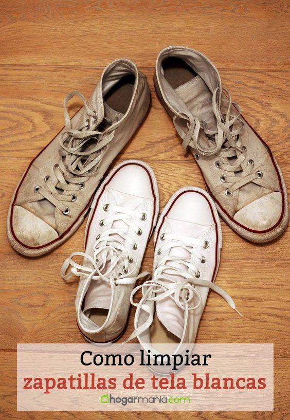 Cómo limpiar zapatillas de tela blancas