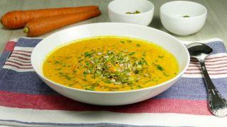 Crema de zanahoria y nueces de macadamia