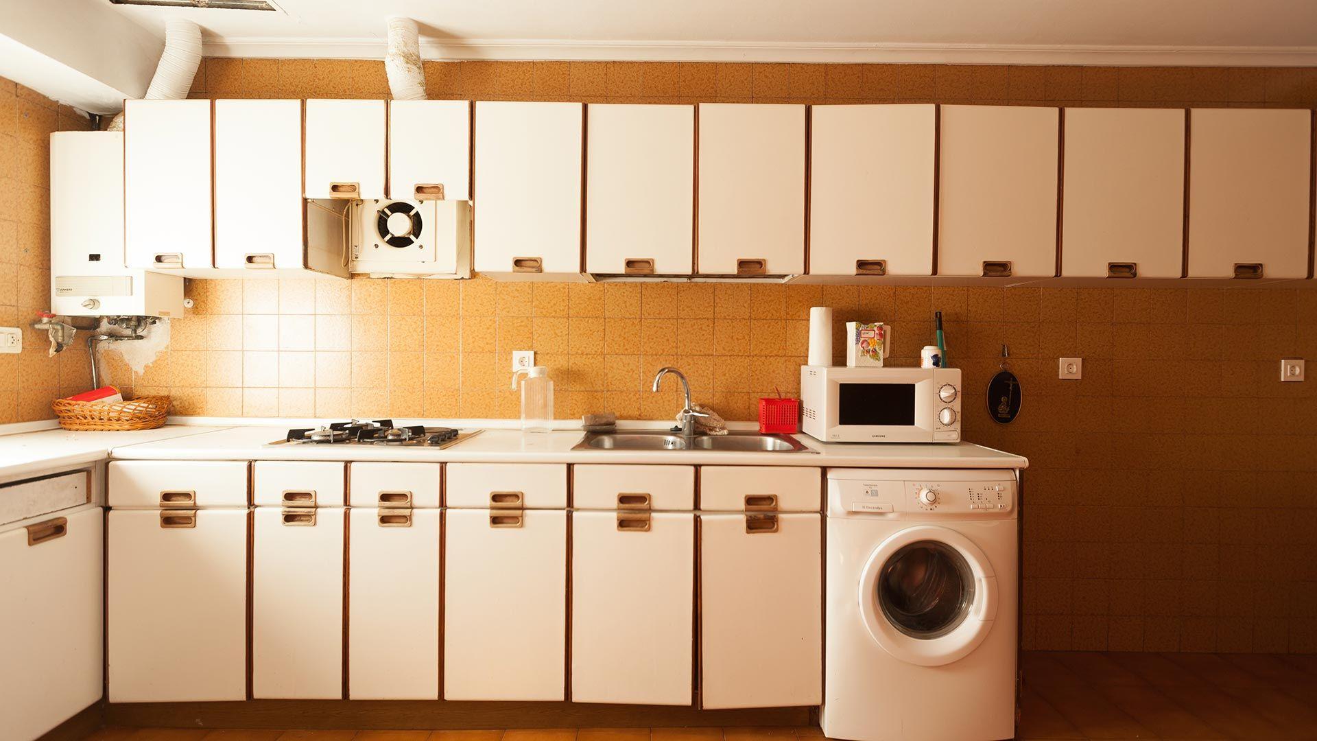 Decorar cocina amplia sin obra - antes
