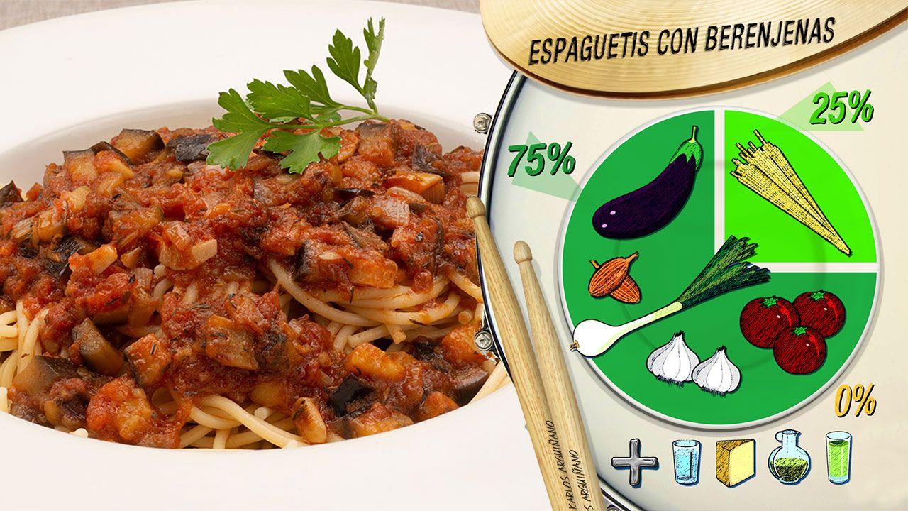 Plato del día: Espaguetis con berenjenas