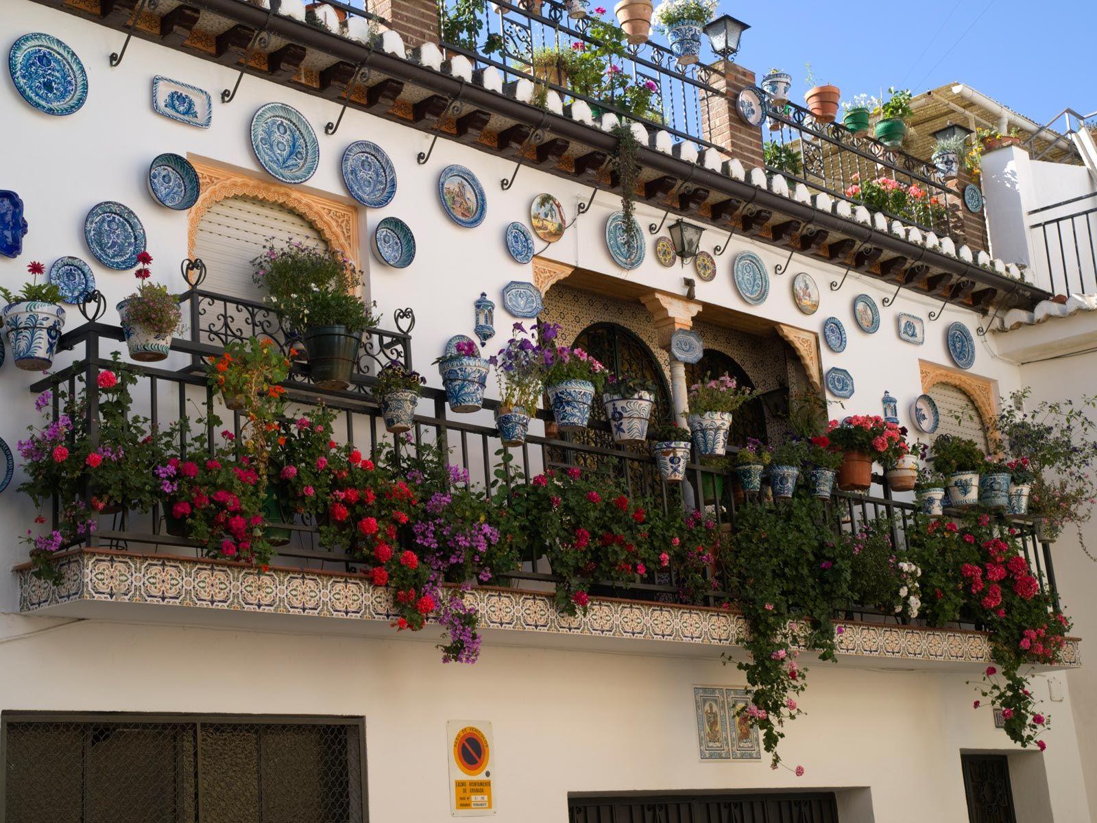 Decoración de balcones y patios de Andalucía