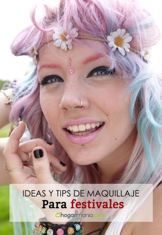 Maquillajes de festival: purpurina y stickers dorados para disfrutar de la música en verano
