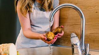 Patatas en el microondas - Paso 1