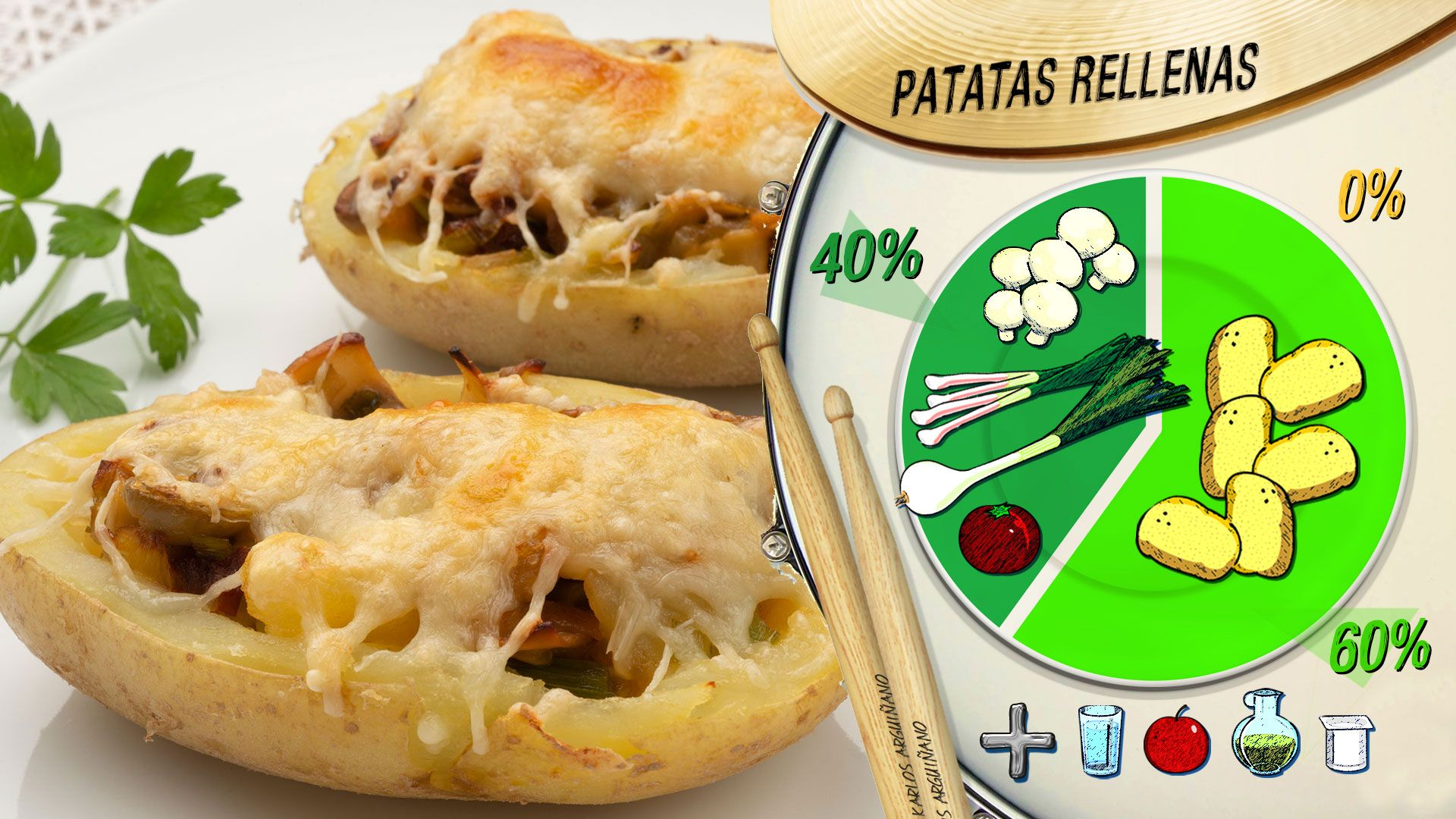 Plato del día -  Patatas rellenas