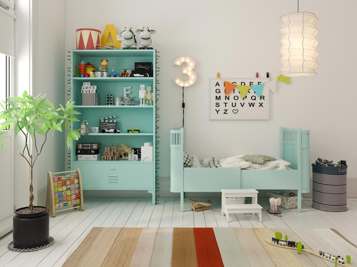 Decoración sencilla para una habitación de bebé económica.