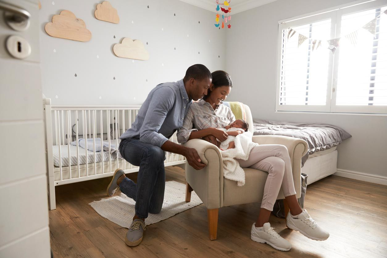 Idea para decorar una habitación de bebé.