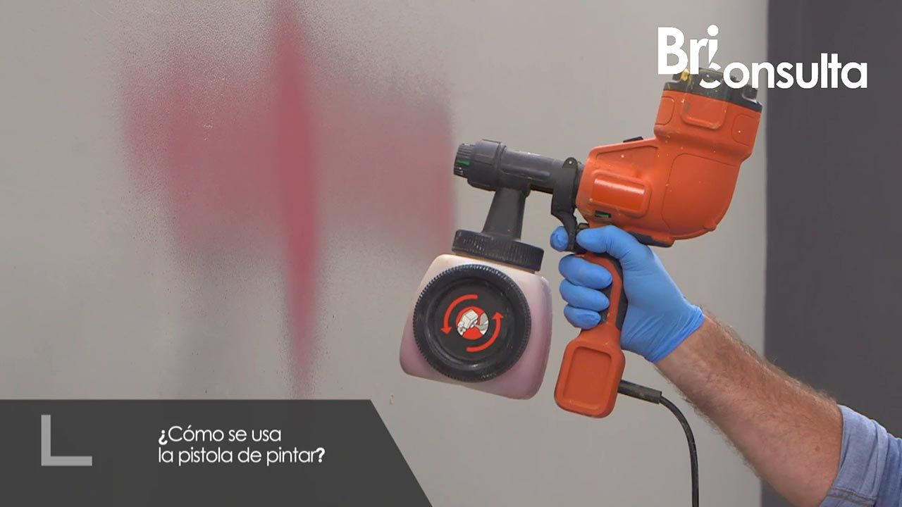 Cómo se usa la pistola de pintar