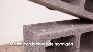 Cómo hacer una mesita con bloques de hormigón