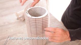 Hacer un jarrón con un tarro de cristal y hormigón