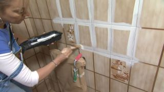 Decorar baño sin obra en blanco y madera - paso 2